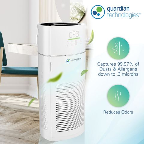 Germguardian 4 In 1 Large Room 360 Degree Air Purifier With True Hepa Filter And High Performing Cadr In 2020 Filter Air Purifier Hepa Filter Air Purifier Air Purifier