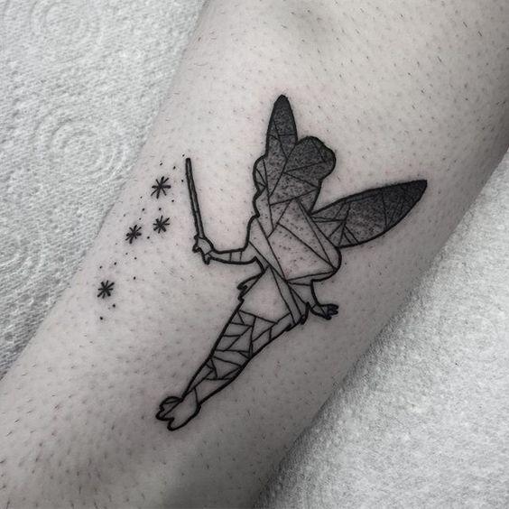 Geometric tinker bell.. Disney all day erday.. #tattoo #tattoos #Dublin…