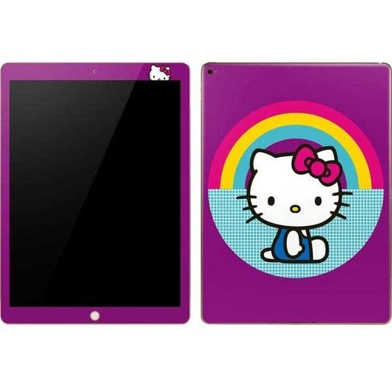 Hello Kitty Rainbow Tablet Skins ❤ liked on Polyvore featuring accessories, tech accessories and hello kitty