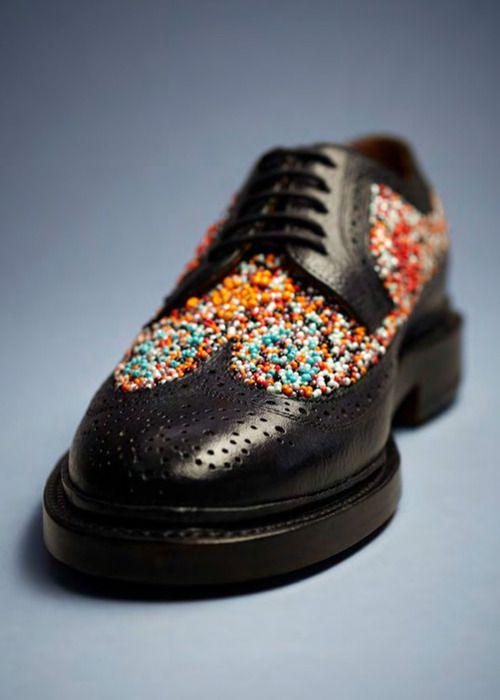 "If you're already looking to update your A/W12 footwear, look no further than the collection collaboration Florsheim by Duckie Brown. Designers Daniel Silver and Steven Cox have re-imagined the traditional Florsheim boots and shoe, ""for the man who cares.""   Our favourite is the fun, yet elegant, Beaded Brogue."