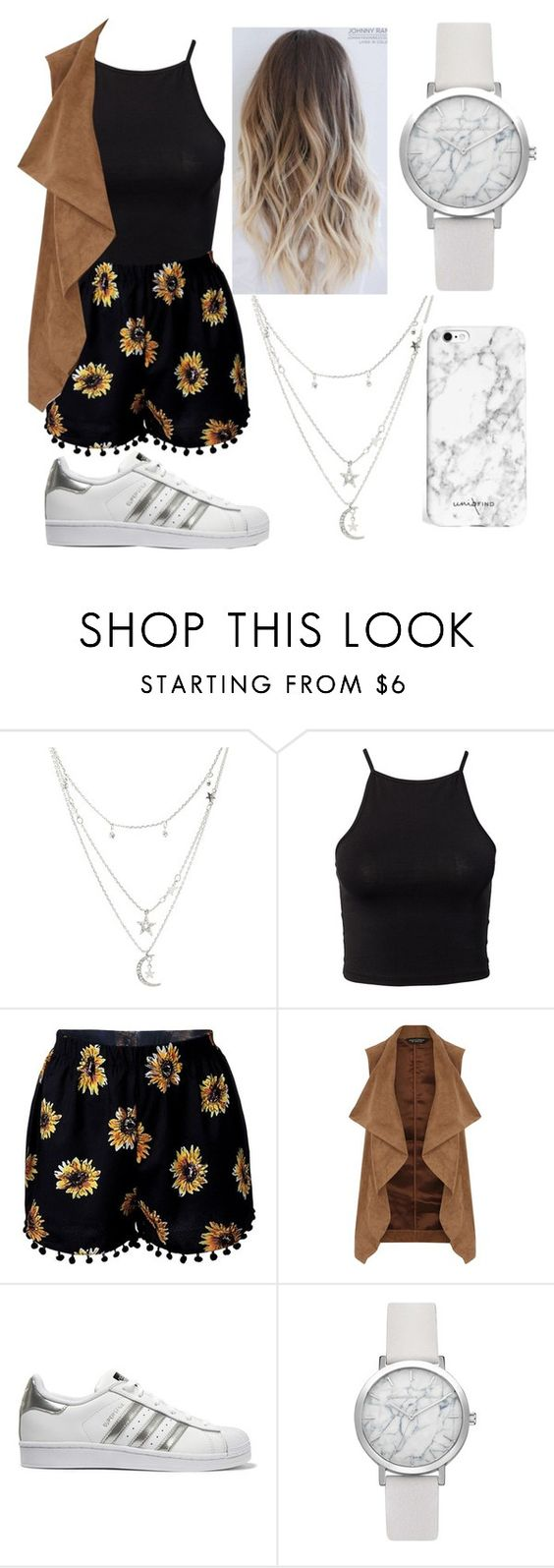 """""""Untitled #421"""" by alexa-gilinsky ❤ liked on Polyvore featuring Charlotte Russe, NLY Trend, Dorothy Perkins and adidas Originals"""