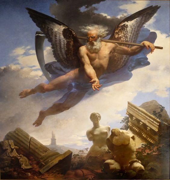 La Venus de Milo aparece representada en muchas obras pictóricas a partir de su descubrimiento, como en El Tiempo mostrando las ruinas que causa y las obras maestras que saca a la luz, obra de Jean Baptiste Mauzaisse (1822), París, Museo del Louvre