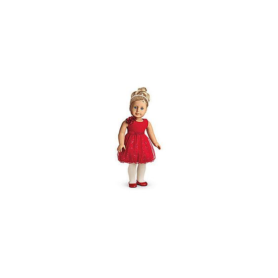 Sparkle Party Dress for Dolls Charm ($36) ❤ liked on Polyvore featuring toys, american girl and dolls