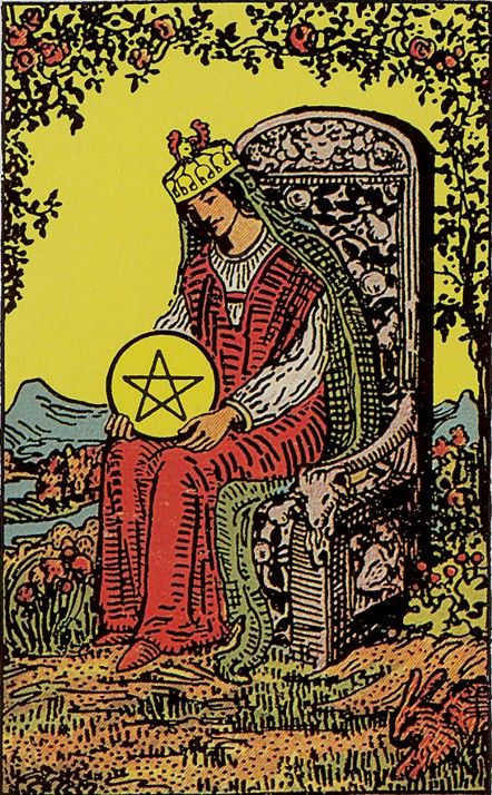 Queen of Pentacles / Rider-Waite-Smith