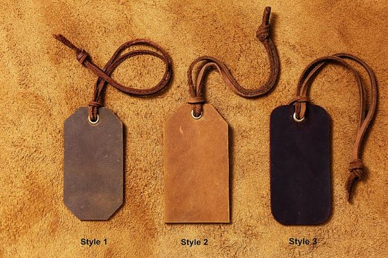 Personalized Leather Luggage Tag Tags / Travel Bag Tag / Custom Leather Tag / leather anniversary gift - LT000S