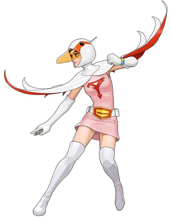 構える白鳥のジュンのかっこいい画像。