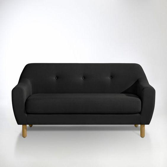 Canapé fixe, 2 pl. Clém Les petits prix