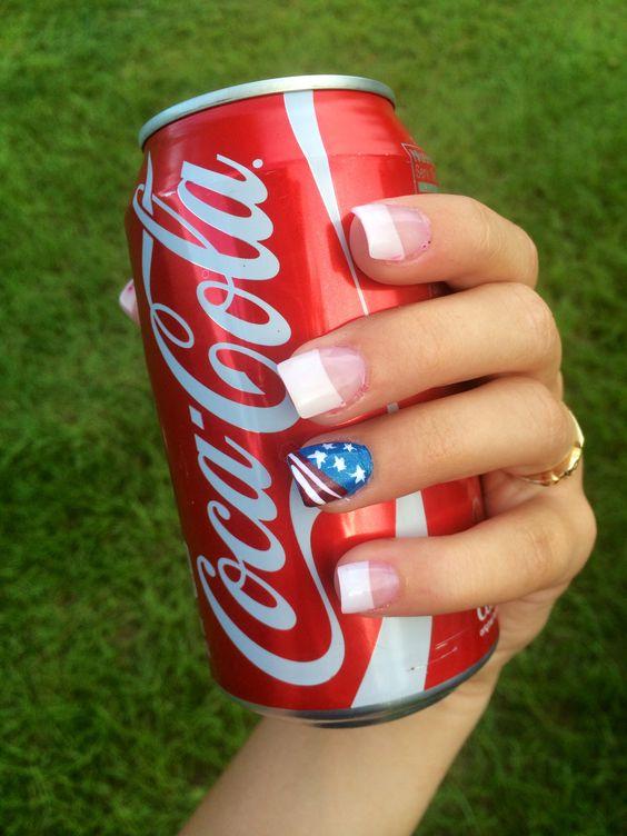 #fourthofjulynails #fourthofjuly #flag #nails