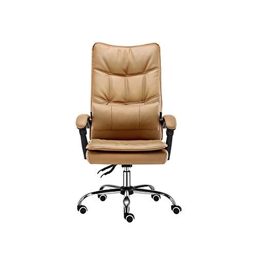 Idebris Home Boss Chair Office Computer Chair Study Swivel Chair Comfortable Reclining Color Brown With Images