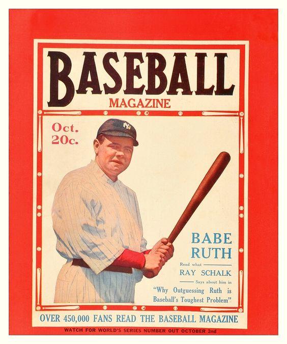 Babe Ruth Cover Of Baseball Magazine - October 1920 -6514