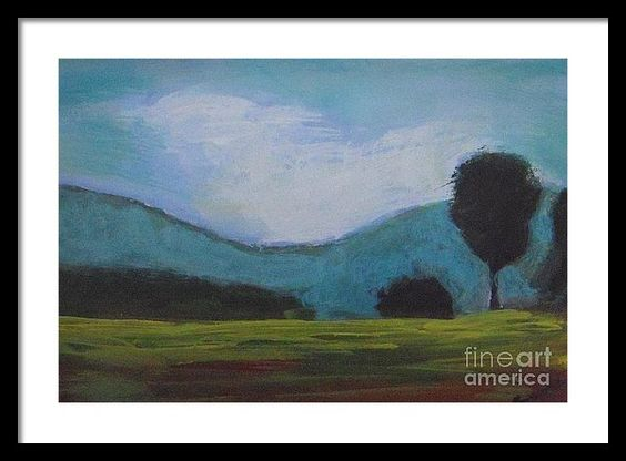 Landscape Framed Print featuring the painting Suburb by Vesna Antic