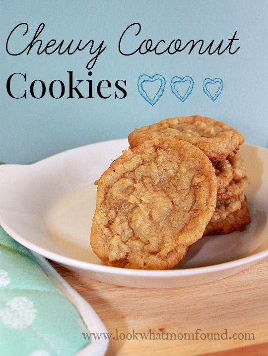 chewy coconut cookies #recipe | Recipes to Try | Pinterest | Coconut ...