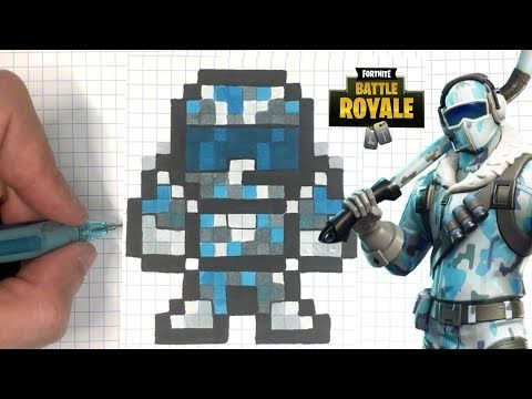 Chadessin Pixel Art Fortnite Youtube Pixel Art Dessin