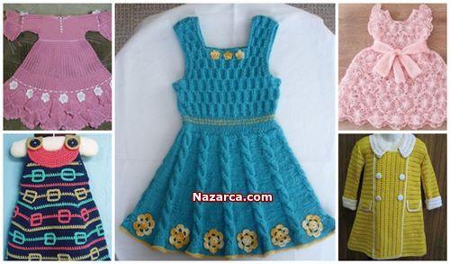 Orgu Kiz Cocuk Elbise Yapilisi Ve Modelleri Turkce Videolu Nazarca Com Bebek Elbise Modelleri Elbise Sirin Elbiseler
