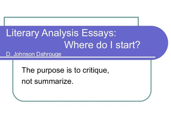 literary analysis essay guidelines