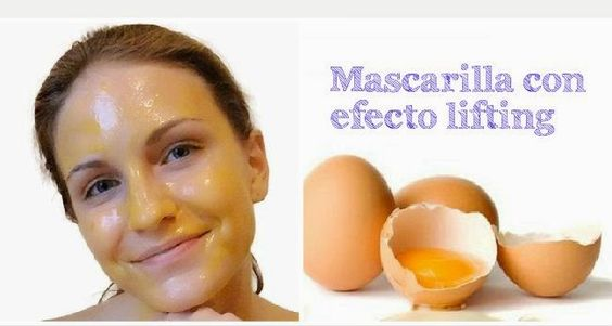 Mascarilla de huevo con efecto lifting ~ Manoslindas.com
