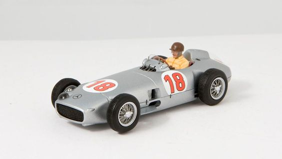 Mercedes W196, German GP 1954, J. Fangio in 1/43 - classic racer from Spark