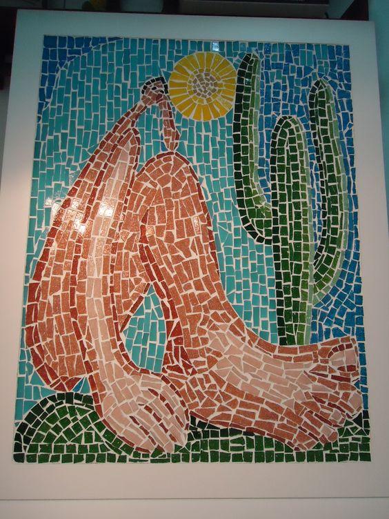 Abaporu cria o livre em mosaico inspirada na pintura de for Pinterest obras de arte