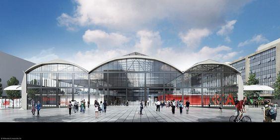 Projet de restructuration de la Halle Freyssinet pour accueillir 1000 start ups. Wilmotte & Associés architectes