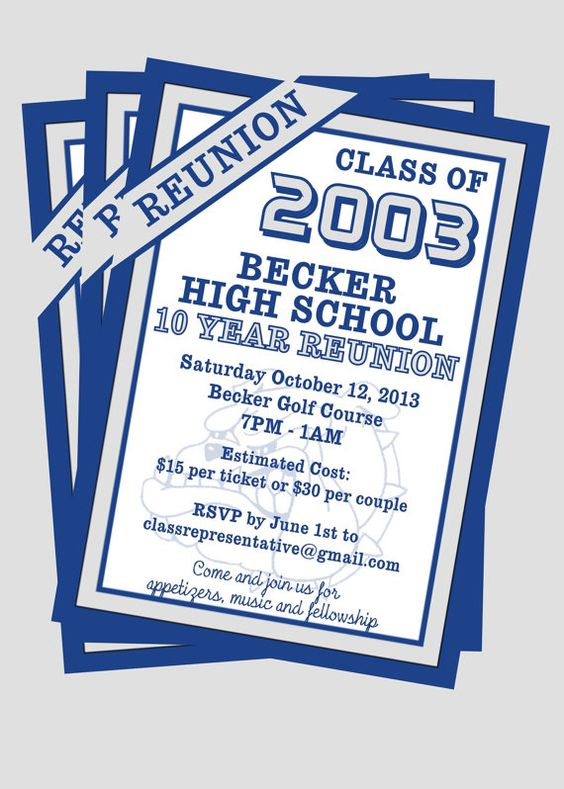 Class Reunion Invitation customize with your by JustForYouInvites - family reunion flyer