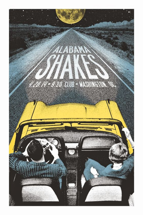 Alabama Shakes Washington DC Posters by Lastleaf Printing  -space  -form  -value…