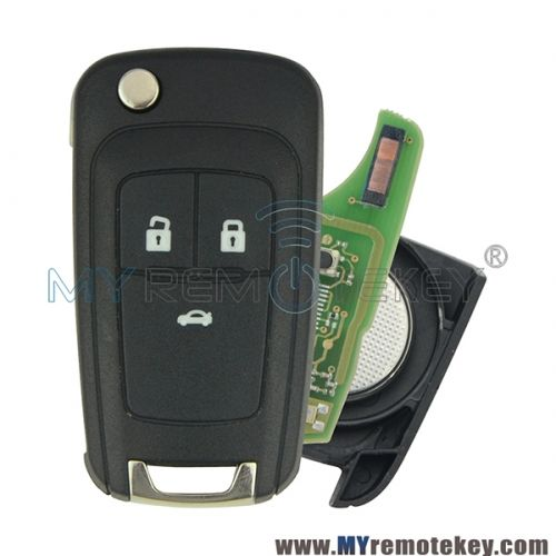 3 Button Car Flip Folding Remote Key Fob Case Shell Blade For