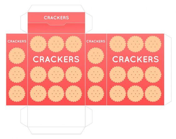 play food box printables: crackers, salt, cereal, pizza, macaroni ...