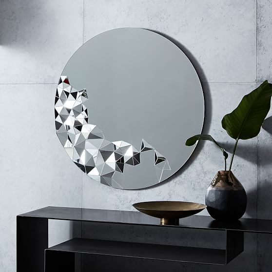 Faceted Wall Mirror Round At West Elm Mirrors Wall Decor