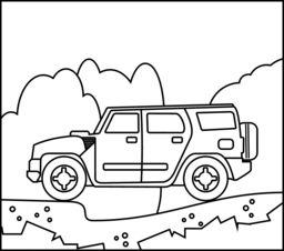 off road car online coloring page transportation coloring pages pinterest cars. Black Bedroom Furniture Sets. Home Design Ideas