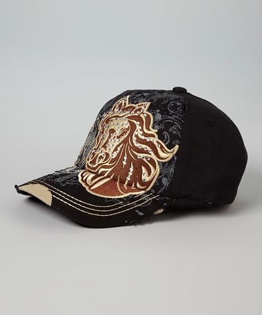 Another great find on #zulily! Black Horse Head Vintage Cadet Cap #zulilyfinds