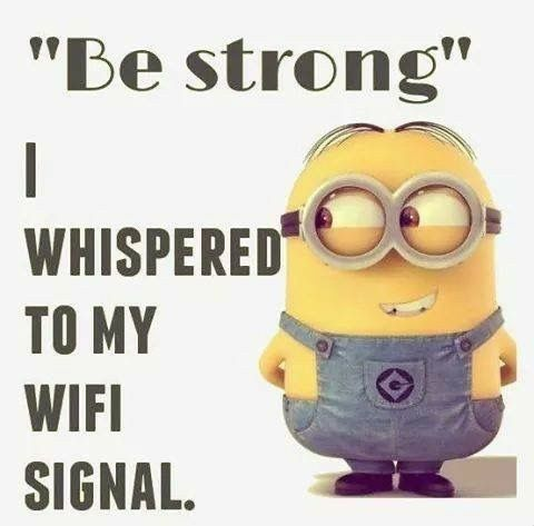 May The Force Be Strong With The Wifi Cute Funny Quotes Minions Funny Minion Jokes