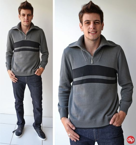 Para quem gosta de um estilo mais clássico vale investir em blusas de lã na cor cinza. É sofisticação na medida certa!