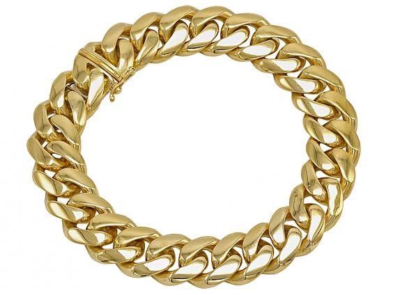 C'est Laudier 18K Gold Chain Bracelet #509542