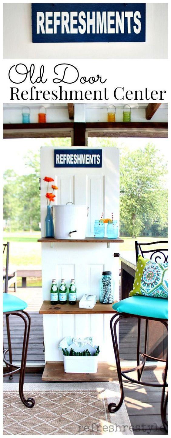 Diy A Door Shelf Patio Entry Ways And Decks