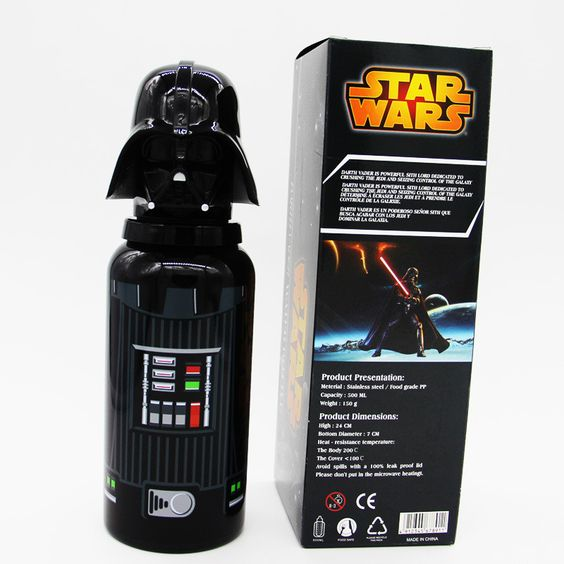 2016 new arrival Star Wars Darth Vader Mug Stainless Steel Thermos Creative Straight body style Cartoon Water Bottle Outdoor Mug