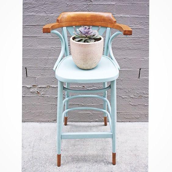 """#Thonet #bentwood #stool #brisbane #qld #etsy #dtll #anniesloan #paintedfurniture #womenwhodiy"""
