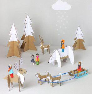 Игрушки для детей из картона (15)
