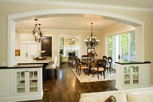 Kitchen Dining Room Combo More Examples Of Combined Kitchen Dining Areas Are Shown Below Kitchen Dining R Traditional Dining Rooms Home Traditional Dining Room