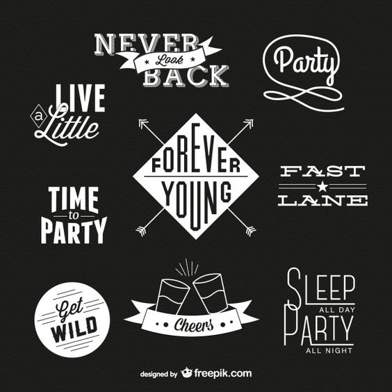 Retro typography free download