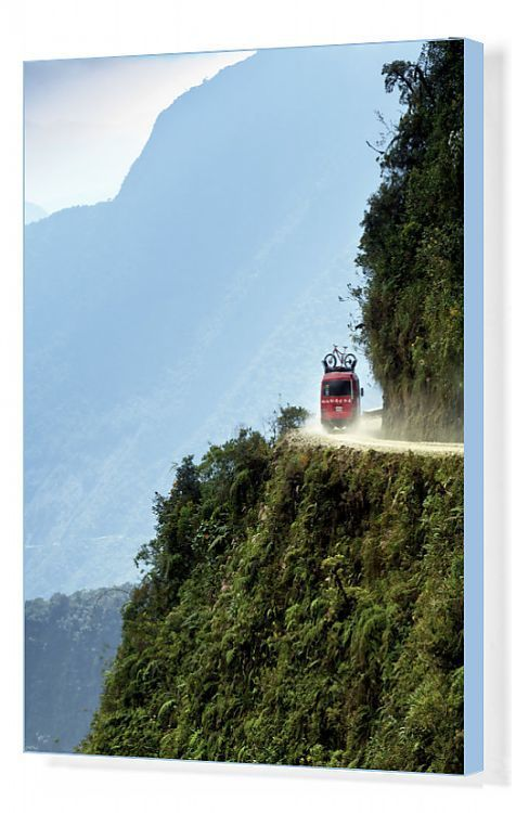 Print Of Bolivia Worlds Most Dangerous Road Andes Mountains Support Van For Mountain In 2020 Dangerous Roads Andes Mountains Bolivia