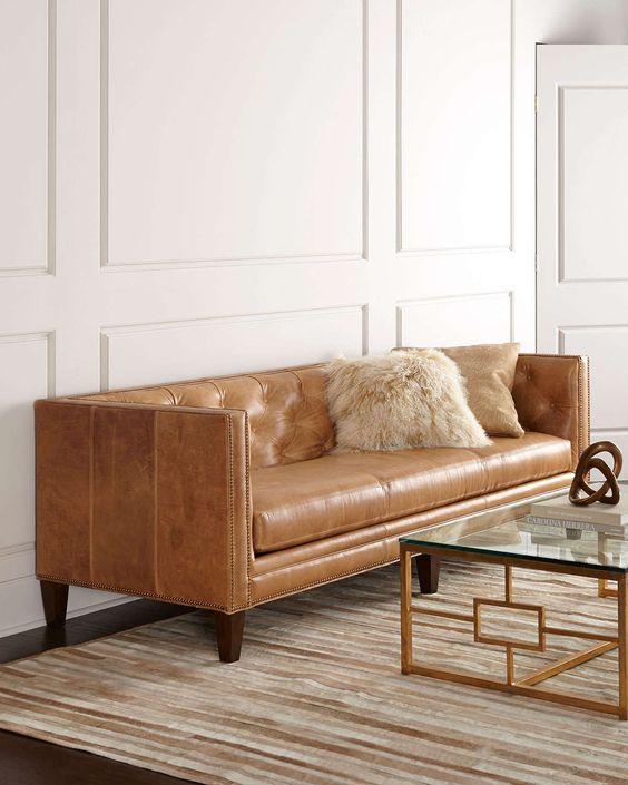 Phòng khách vintage thì mua sofa da ở đâu