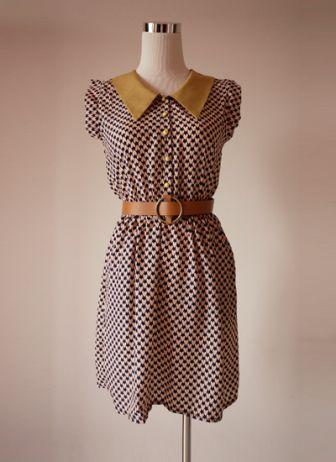 Emeria contrast collar dress | shoplovemartini.com - StyleSays