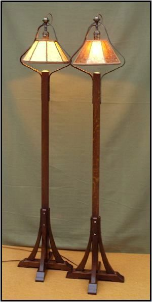 Stickley 500 floor lamp reproductions murphy woodworking for Wood floor lamp plans