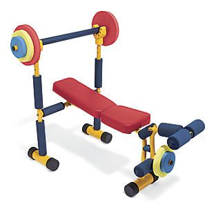 Kid strength and weights on pinterest Kids weight bench