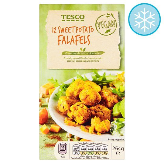 12 Vegan Sweet Potato Falafel 264g In 2019 Tesco Groceries