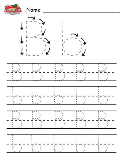 Preschool Alphabet Letters Trace | pisanie | Pinterest | Preschool ...