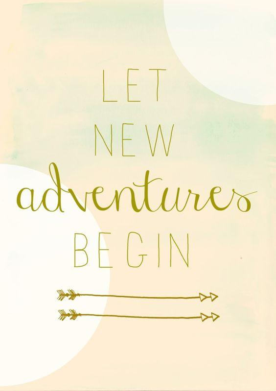 Let new adventures begin- free pink watercolor printable: