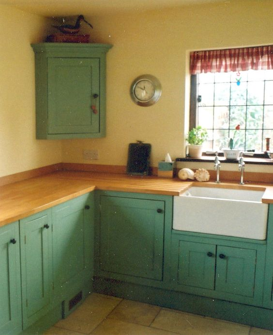Green Cabinets, Green Kitchen And Kitchen Furniture