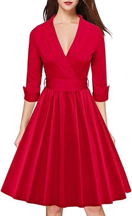 auténtico colores y llamativos sitio web profesional LUOUSE Mujer Vestidos de otoño abrigo sencillo clásico tipo ...
