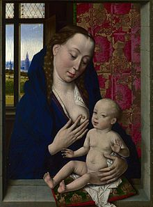 Dieric Bouts | 1415-1475, Flemish / Netherlands |  The Virgin and Child /Virgo Lactis, ca. 1465, National Gallery, London